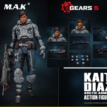 In Stock Gears 5 1/12 Scale Kait Diaz figure model Collectible Model toy For Collection touken ranbu online nakigitsune 1 8 scale pre painted figure collectible model toy 20cm