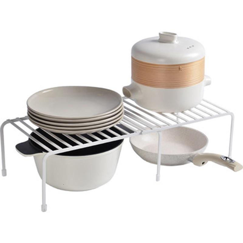 Japanese Style Iron Home Storage Organization Rack Frame Kitchen Pot Dishes Holder Household Cupboard Shelf Bathroom Organizer