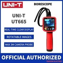 UNI T UT665 Borescope Industrial Endoscope Waterproof Probe Automotive Overhaul Pipeline Vehicle Internal Detector Snake Camera