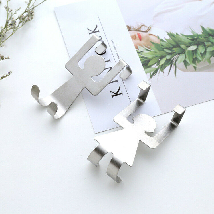 2Pcs/set Multi Function Sticky Hooks Self Adhesive Wall Hanger Organiser  Towel Hook Kitchen Bathroom Storage Tools