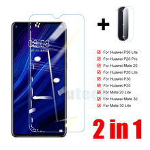 2 in 1 Tempered Glass For Huawei P30 P20 Lite Camera Lens Screen Protector For Huawei Mate 20 30 P20 P30 Lite Protective Glass truck lite 99200r lens