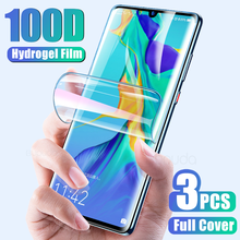 3Pcs 100D Screen Protector For Huawei P40 P30 Pro P20 lite Hydrogel Film For Huawei Mate 20 30 Pro Lite P Smart 2019 Soft Film(China)
