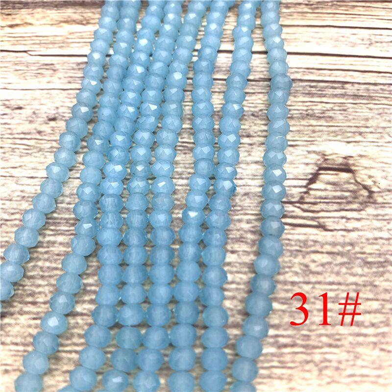 148 шт 2x3 мм/3x4 мм/4x6 мм хрустальные бусины Рондель граненые стеклянные бусины для изготовления ювелирных изделий DIY женский браслет ожерелье ювелирные изделия - Цвет: NO.31