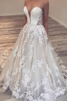 Ball-Gown Appliques Gorgeous Sweetheart Wedding Dresses Vestido de Noiva 2020 Wedding Dress Bride Formal Gown свадебное платье