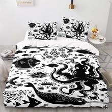 Duvet-Cover-Set Size-Bedding King Cartoon with Pillowcase 200200 World-Pattern Underwater