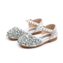 Fashion Sequin Baby Girl Party Flat Leather Shoes Children Bead Wedding Shoe Kids School Princess For Little Girl 1  6 7 8 9 12 toddler girl sequin glitter flat sandals little kids mary jane pu leather pumps big children party wedding princess dress shoes