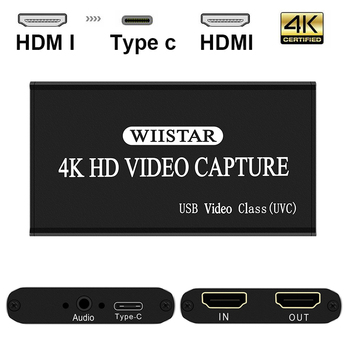 Video Capture HDMI To USB  Type-C 1080P HD Video Capture Card For TV PC PS4 Game Live Streaming For Windows Linux Os hd usb 3 0 capture hdmi video capture dongle 1080p 60fps capture box for windows for linux for os x system plug