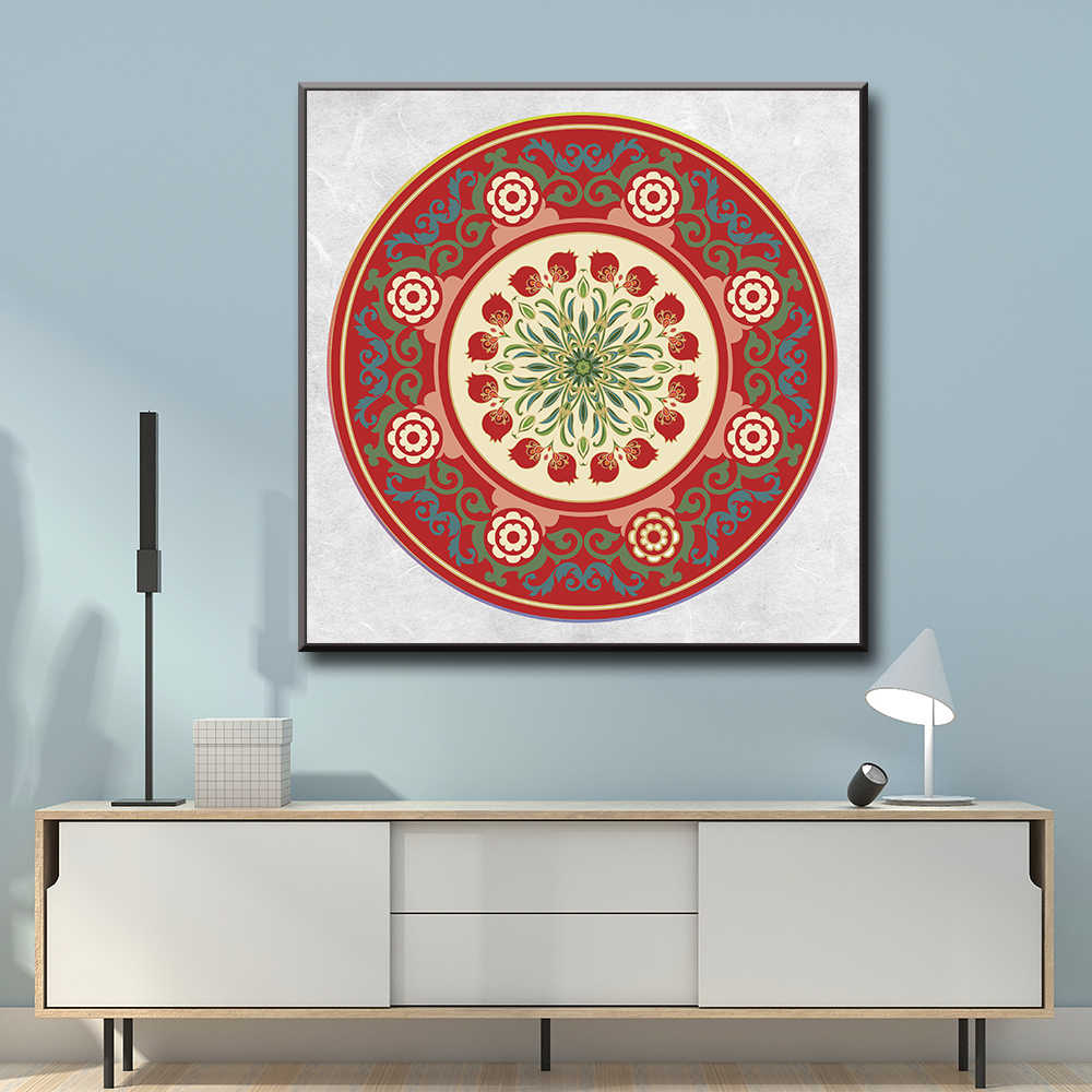 Mandala Posters And Prints Wall Art Canvas Painting Wall Pictures For Living Room Decor