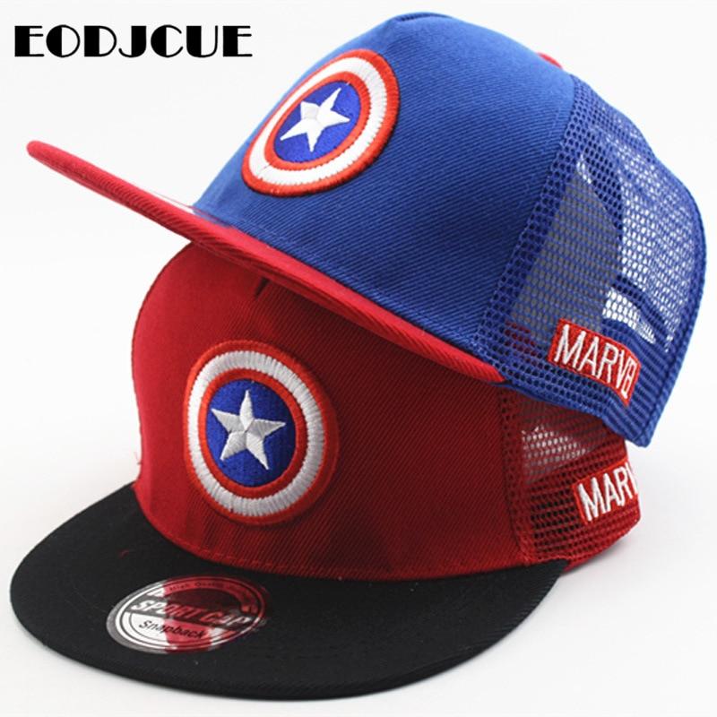 2019 Boys Girls Snapback Hats Children 3D Embroidery Superman Baseball Caps Kids Cartoon Hip Hop Hat Winter Hat Gorras