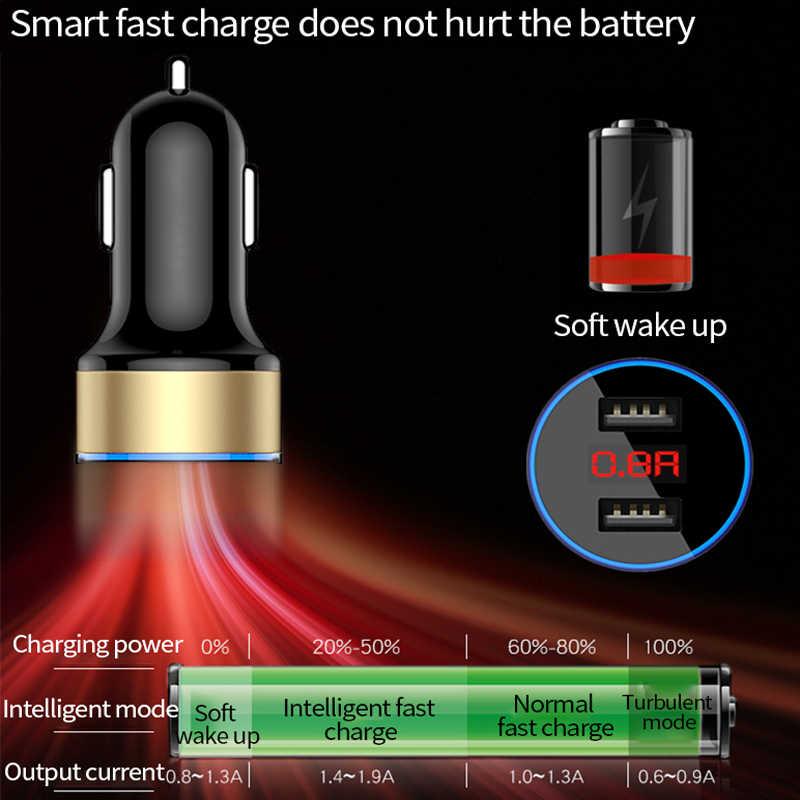 Separador cargador de coche encendedor cargador rápido en USB para Peugeot 307, 206, 407, 207, 3008, 406, 208, 508, 301, 2008, 408, 5008