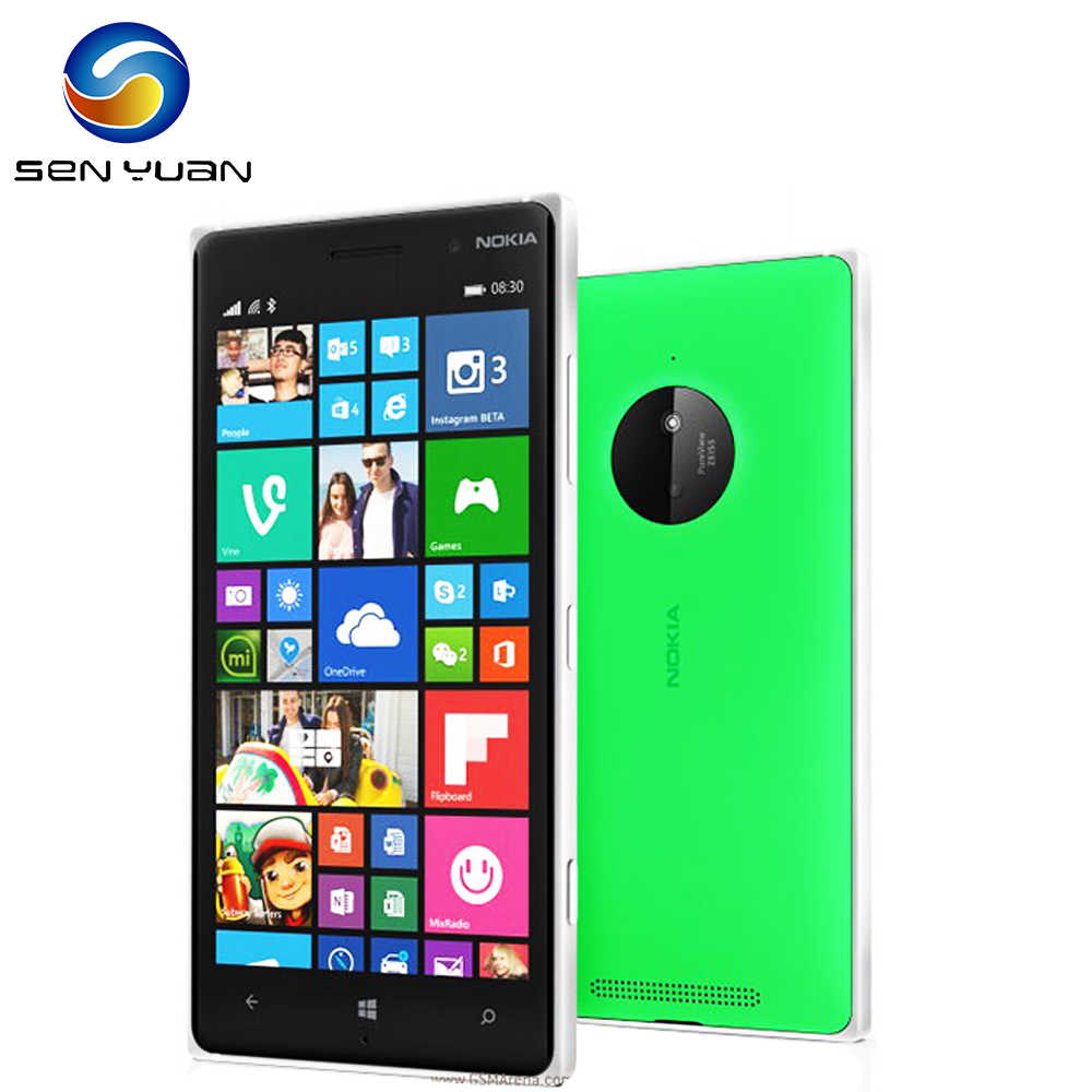 "830 Entsperrt Nokia Lumia 830 handy 5.0 ""touch screen 16GB ROM Quad Core 10MP WIFI GPS zelle telefon"
