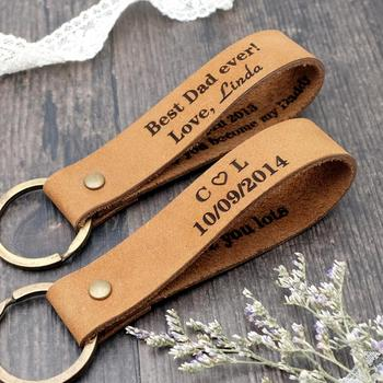 Personalized Leather Keychain, Custom Leather Keyring, Personalized Couple Gifts, Custom Key Chain, Mens Gift, Dad Gift wholesale real black blue grey pink python leather key chain customize keychain gift men women xmas family birthday couple gifts