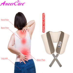 Image 2 - back and neck massage electric body massager infrared heated kneading office and home electric neck roller massager relaxation