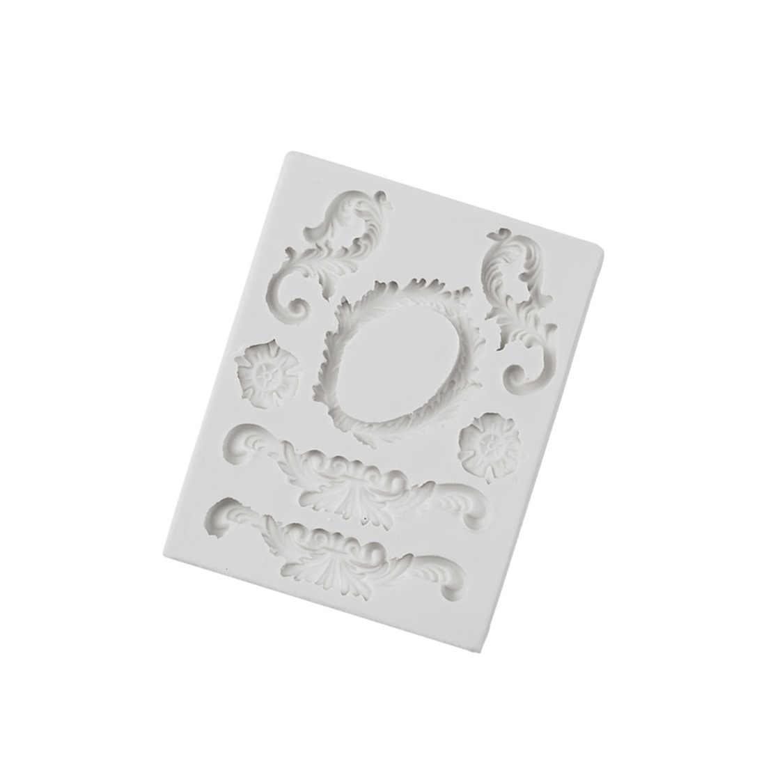 סיליקון תבניות חימר שרף אירופאי רטרו הקלה עובש 3d קיר פנל עיצוב DIY UV בטון תכשיטי אביזרי פונדנט עובש