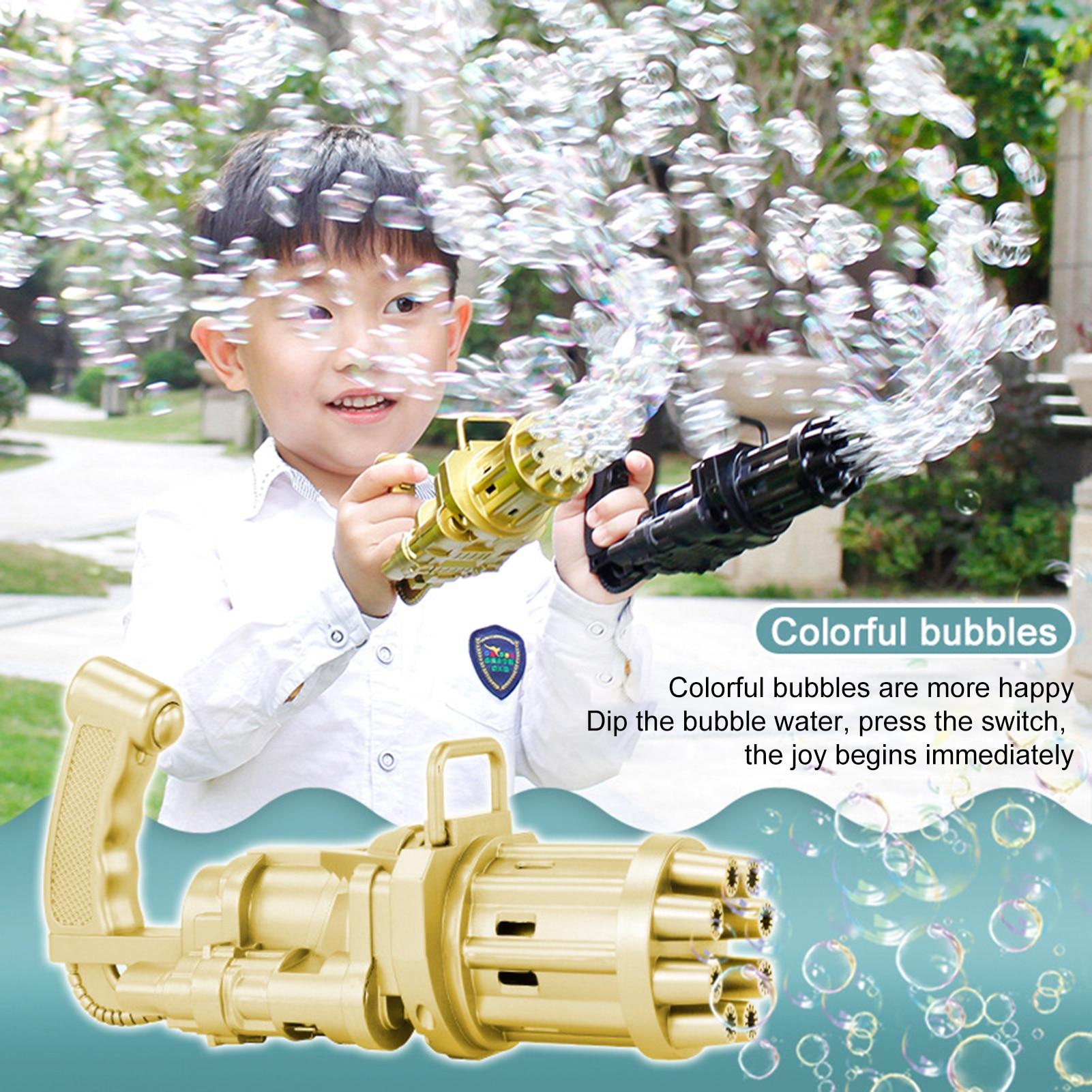 Новинка, детский пистолет для пузырей Gatling, летняя автоматическая машина для мыльных пузырей с водой для детей, для малышей, для дома и улицы,...