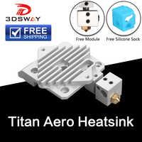 Frete grátis 3 peças de impressora 3d dsway titan aero dissipador calor bloco refrigeração v6 extrusora curto alcance hotend 1.75mm radiador 1pc