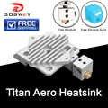 Il trasporto Libero 3DSWAY 3D Parti Della Stampante Titan Aero Dissipatore di Calore di Raffreddamento del blocco V6 Estrusore a Corto Raggio Hotend 1.75 millimetri radiatore 1pc