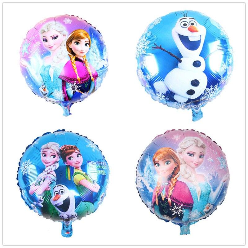 Disney Frozen Theme 18 Inch Baby Shower Party Aluminium Foil Balloons Decoration Balloons Rotate Balloon Kids Birthday Supplies