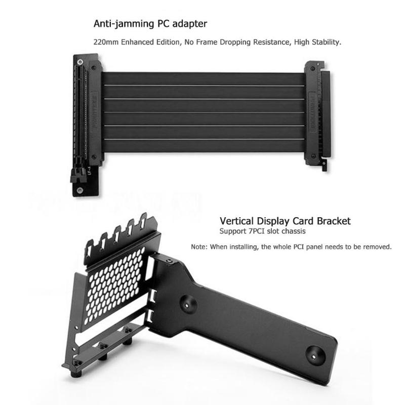Image 5 - Graphics Card Holder Stand Metal Video Card Extension Mounting Bracket with graphics extension cable for 7 PCI Chassis PC Case-in Fans & Cooling Accessories from Computer & Office