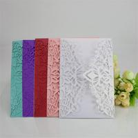 10PCS New Style Invitation Cards Elegant Laser Cut Wedding Greeting Card Party Supplies