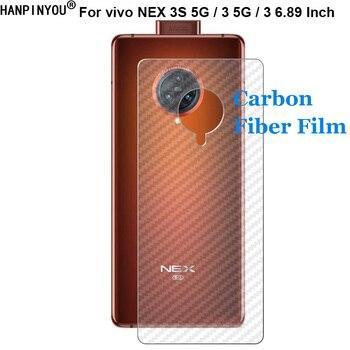 Перейти на Алиэкспресс и купить ДЛЯ vivo NEX 3S 3 NEX3 5G 6,89 дюйм3D защита от отпечатков пальцев ультратонкая Защитная пленка для задней панели из углеродного волокна (не закаленное сте...