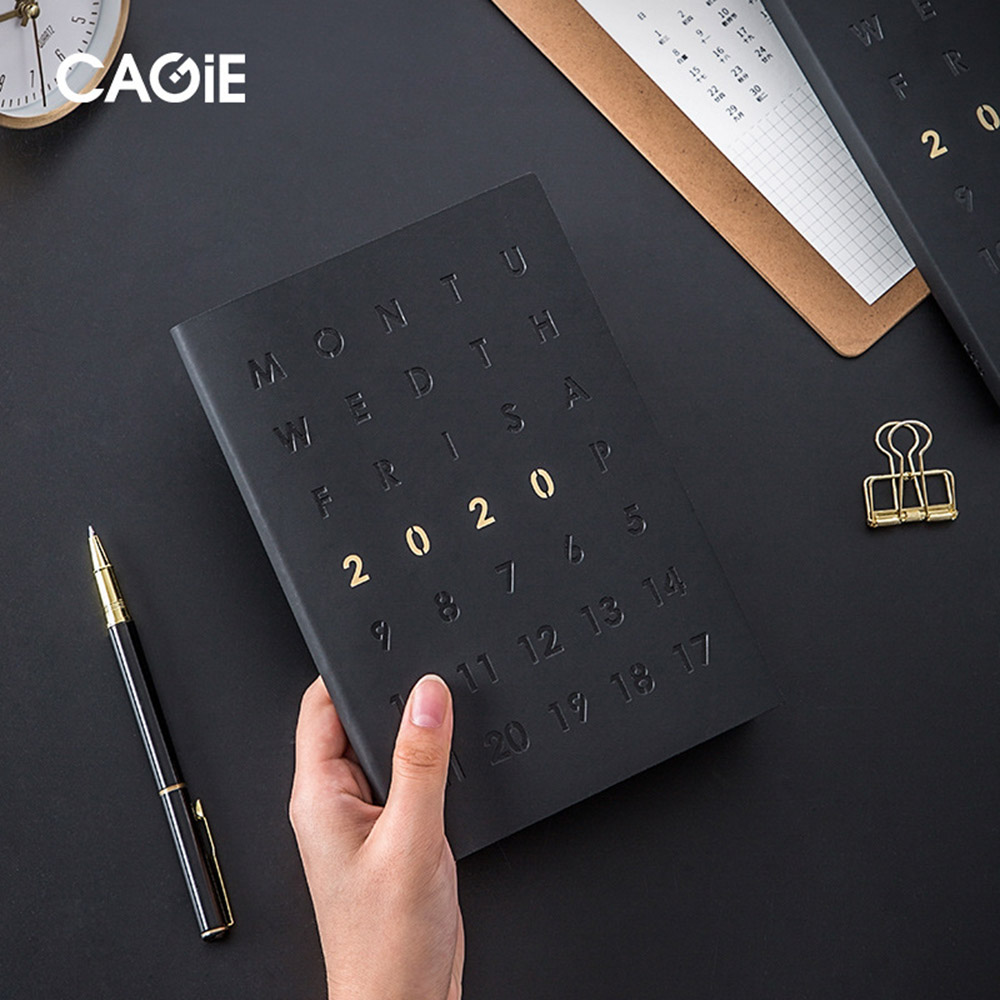 Agendas 2020 Planner Organizer A5 Diary Notebook And Journal Black Weekly Monthly Back To School Business Travel Note Book Pen