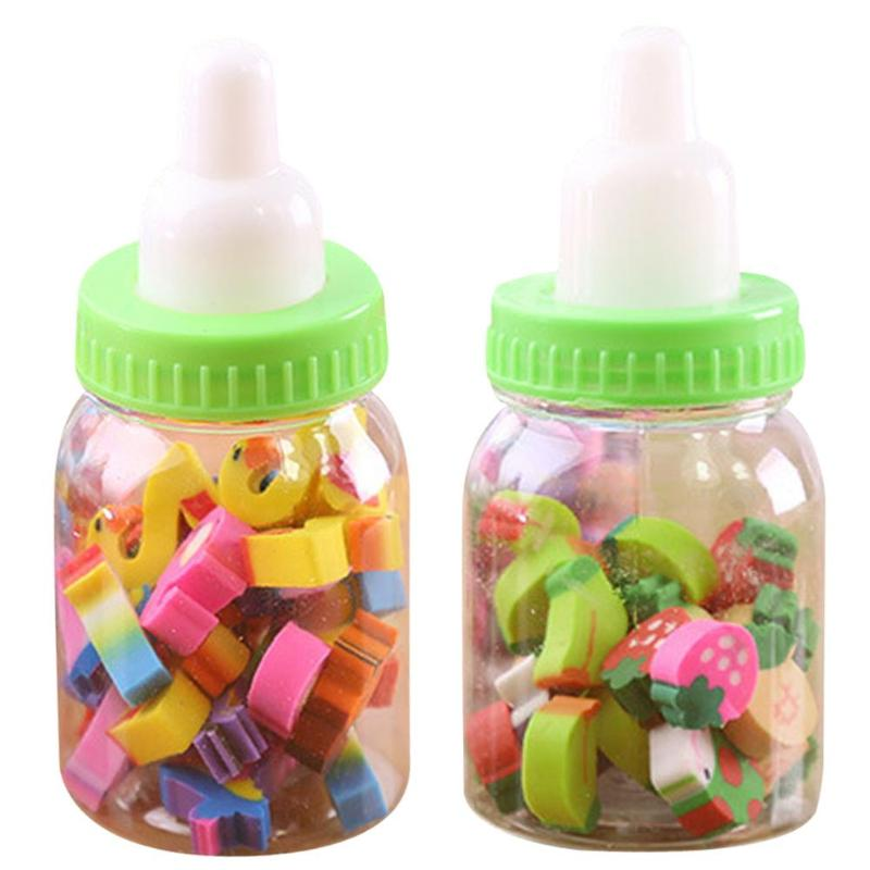 Mini Bottle Rubber Pencil Erasers Toy For Children With Bottle