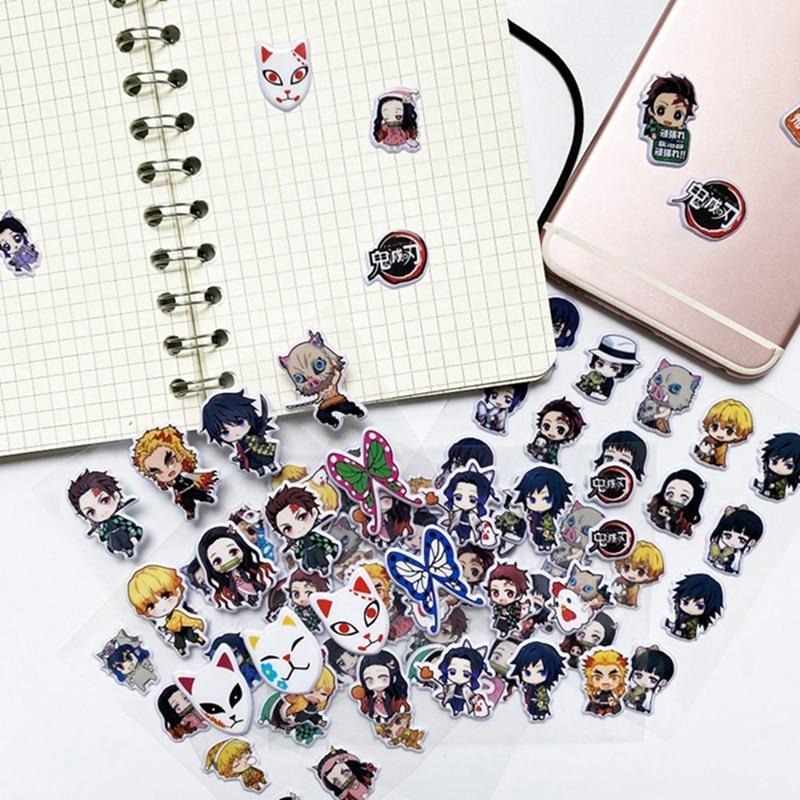 Decor Stationery Kids Gift Anime Demon Slayer:Kimetsu No Yaiba Kamado Tanjirou 3D Bubble Stickers Di