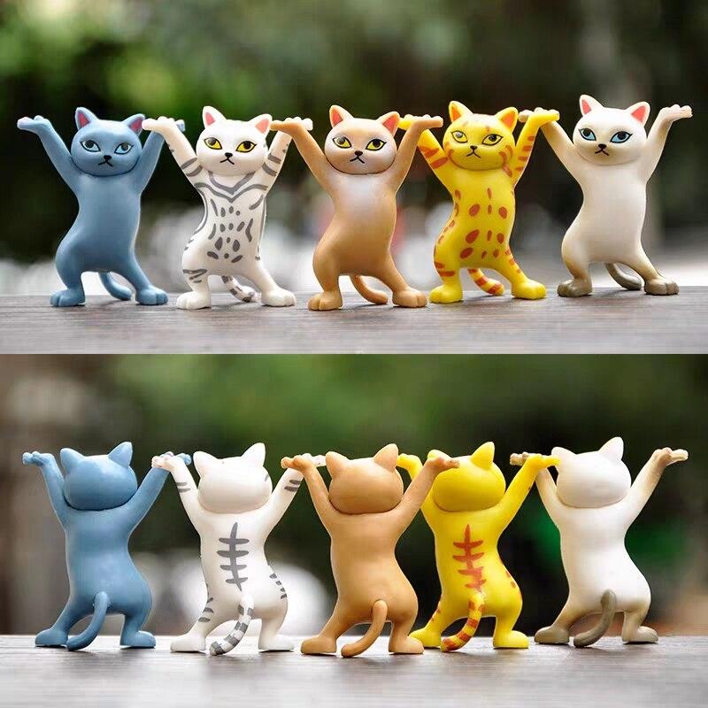 Japanese enchanting cat pen holder Decoration Animal Statue Handmade Home Decor Toy Gift hand-made DIY Capsule Toys Blind box