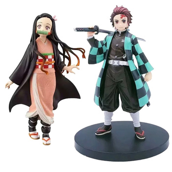 15-18cm Action Figure Demon Slayer Kamado Tanjirou Kamado Nezuko PVC Figurine Model Doll Collectible Figure Toys 18cm japanese game rage of bahamut mystere action figure collectible model toys for boys