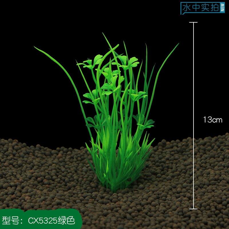 2020 New 13cm Underwater Artificial Aquatic Plant Ornaments For Aquarium Fish Tank Green Water Grass Landscape Decoration