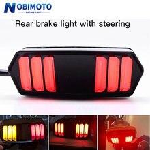 Motocicleta led luz da cauda luz traseira luzes de sinal correndo por sua vez indicador da lâmpada para honda msx125 cbr650f ctx700n ctx700