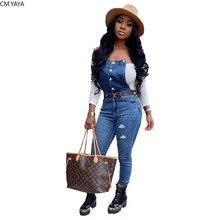 Зимние женские джинсы, модные комбинезоны с карманами, рваные Обтягивающие Комбинезоны, повседневные джинсы-карандаш, уличные Клубные штаны, брюки GL6298