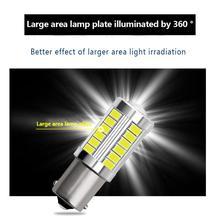 2PCS 1156 LED 33SMD Car Backup Reserve Light Motor Brake Bulb Turn Signal Daytime Running Lights Motorcycle Light Car LED Light