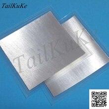 Feuille dindium feuille dindium taille: 100mm * 100mm * 0.1mm Laser refroidissement revêtement matériau détanchéité