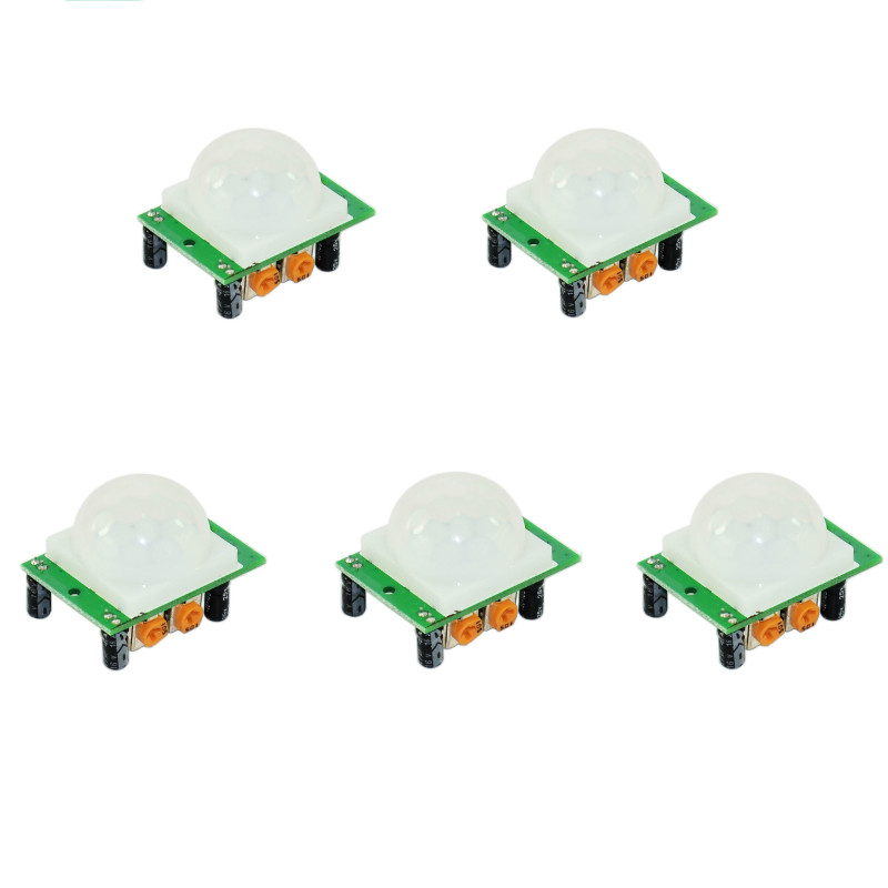 5PCS HC-SR501 Adjust Ir Pyroelectric Infrared PIR Humen Motion Sensor Detector Modules For Arduino UNO R3 Mega 2560 Nano