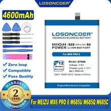 100% original losoncoer 4600mah bt65m bateria para meizu mx6 pro 6 m685u m685q m685c telefone móvel