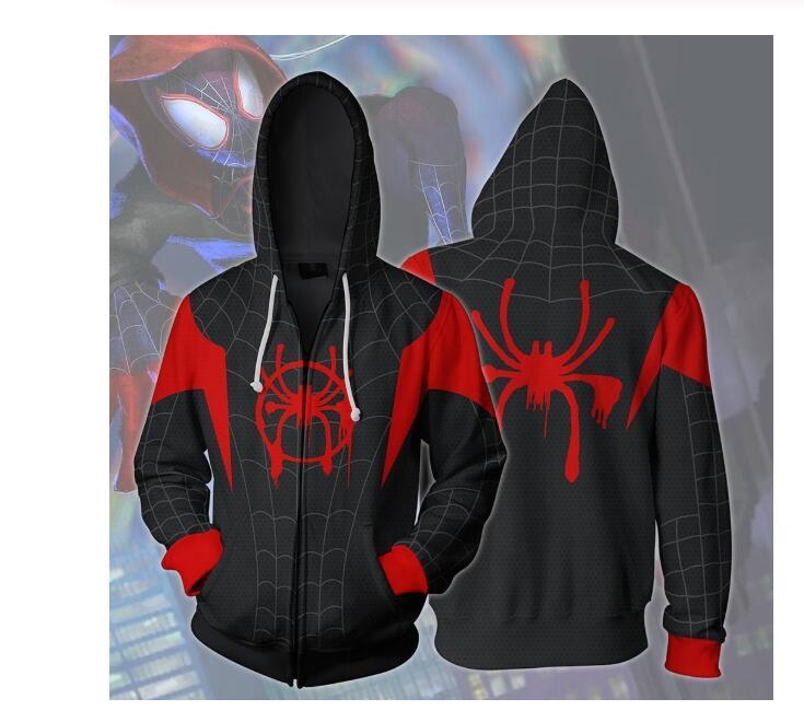 Spiderman Into The Spider Verse Hoodie Superhero Unisex Adult /& Kids Hoodie Top