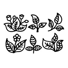 Naifumodo Flower Dies Leaf Branch Metal Cutting for Card Making Scrapbooking Embossing Cuts Stencil Craft