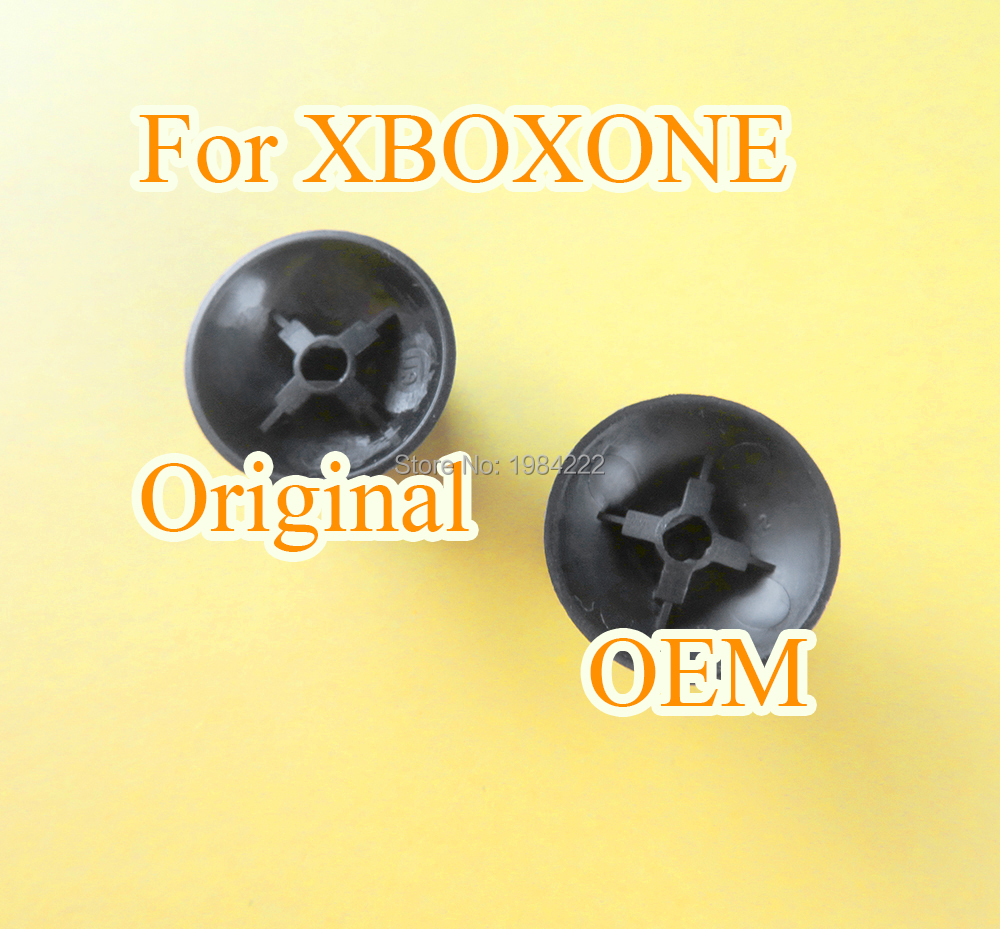2pcs Black For XBOXONE Xbox One Thumb cap Rubber Thumbstick Button Game Joystick Cap Controller Original OEM image