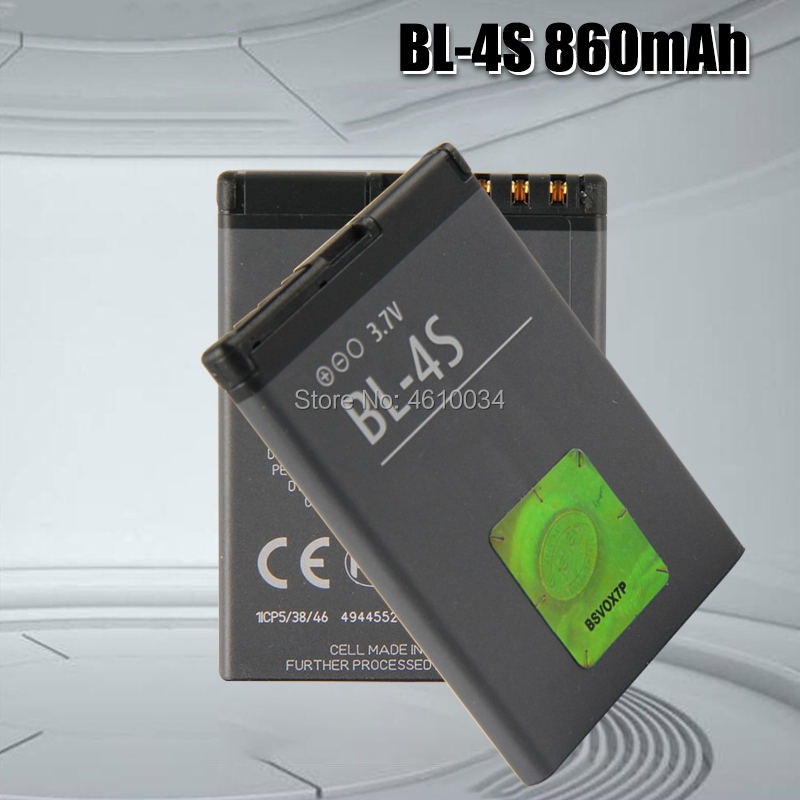 High Quality 860mAh BL 4S BL-4S Battery For Nokia 1006 2680s <font><b>3600s</b></font> 3602S 6202C 6208c 7020 7100s 7610 X3-02 3710f Battery BL4S image