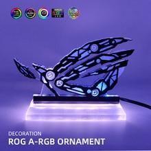 A-RGB ROG Vertical Ornament 5V3Pin Republic of Gamers LED Rainbow Figure Decoration AURA SYNC Custom MOD Acrylic Lighting Panel