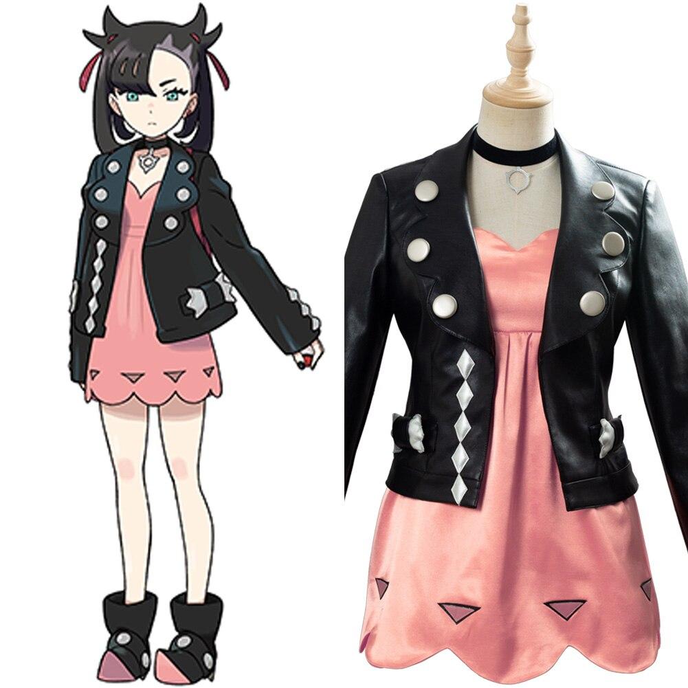 Pokemon Sword/Shield Marnie Cosplay Costume Women Girls Dress