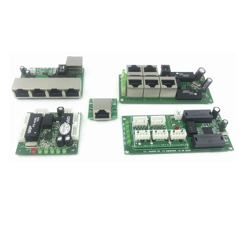5 Pin Ethernet Switch Circuit Board For Module  5port 10/100mbps Switch PCBA Board OEM Motherboard Ethernet Switch 5 RJ45 Wired