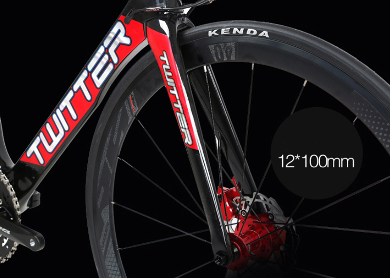 TWITTER SNIPER2.0 Carbon Road Bike 700C Bicycle 16/22 Speed Road Bike for Hydraulic Disc Brake 105/R7000 Derailleur