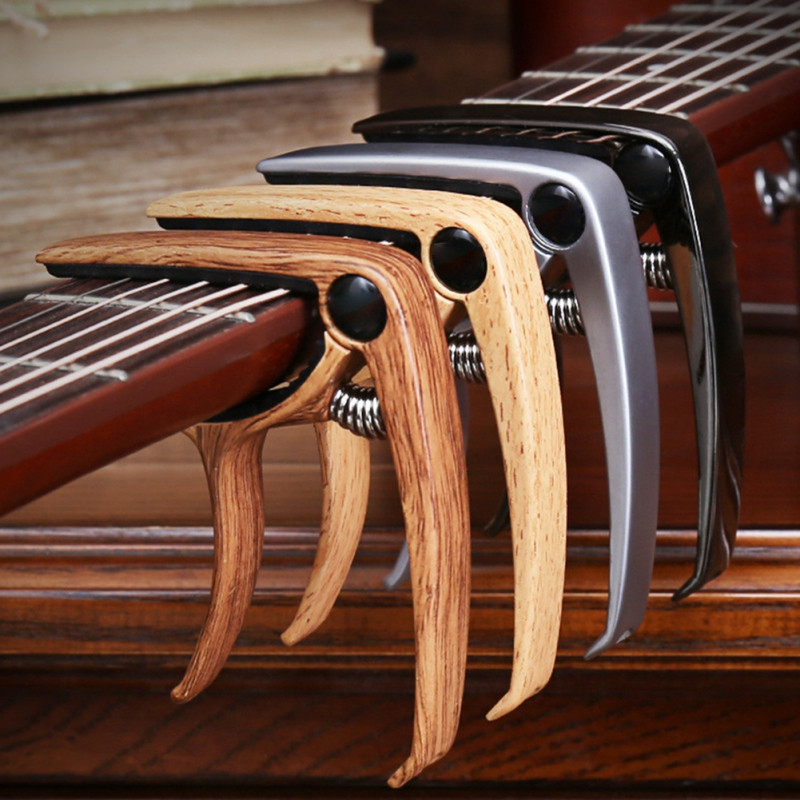 Aluminium Alloy Metal New Guitar Capo Quick Change Clamp Key Acoustic Classic Guitar Capo For Tone Adjusting