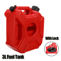 3L Motorcycle Fuel Tanks Universal Plastic Petrol Cans with Lock Motocross ATV Jerrycan Gasoline Oil Container Canister