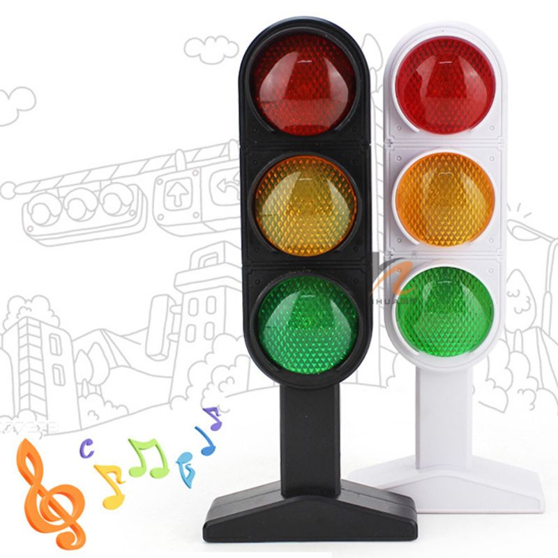 Simulation Traffic Light Educational Toy Imitation Scene Sound Kids Puzzle Toys