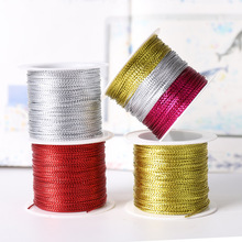 DIY gold / silver / red rope rope with ribbon rope label Line Bracelet for making clothing gifts 20 m 1 mm tag rope