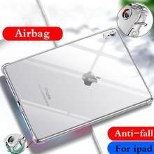 Capa para apple ipad 5 6 9.7 ''2017 2018 silicone macio escudo tpu airbag capa de proteção clara para ipad 5th 6th geração